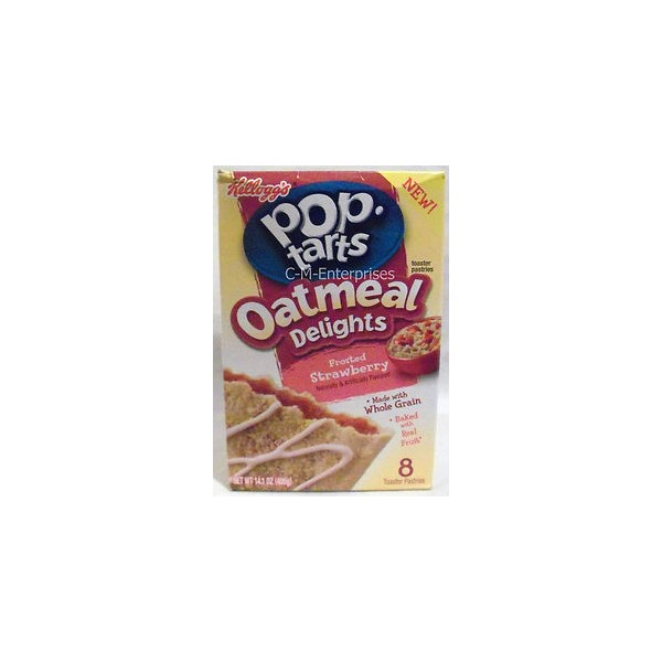 ... -Kellogs > Poptarts Oatmeal Delights Frosted Strawberry 8 pack - 400g
