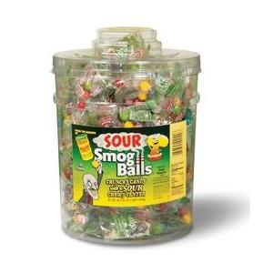 Toxic Waste Sour Smog Balls Tub 120pkts |