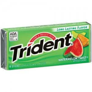 Trident Sugar Free Gum 18 Stick Pack -Watermelon Twist  
