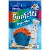 Pillsbury Funfetti Cake & Cupcake Mix-Aqua Blue  234g