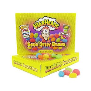 Warheads Sour Jelly Beans T/Box 113g |
