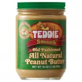 TEDDIE All Natural Peanut Butter Smooth 453g