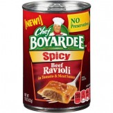 Chef Boyardee Spicy Beef Ravioli in Tomato & Meat Sauce 425g