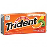 Trident Sugar Free Gum 18 Stick Pack Tropical Twist