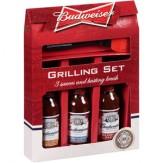 Budweiser 3 Sauce & Basting Brush Gift Pack 467g