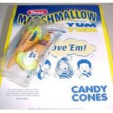Marshmallow Yum-Yum Candy Cones 8.5g