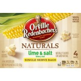 Orville Redenbacher's Gourmet Naturals Lime & Salt Microwave Popcorn, 4 ct 176g DATED