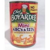 Chef Boyardee Mini ABC's & 123's 425g
