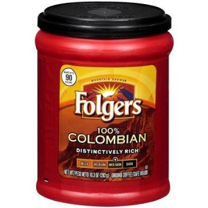 Folgers Coffee Medium Dark 100% Colombian Ground 292g  |
