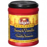 Folgers French Vanilla Ground Coffee 326g