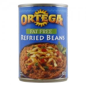 Ortega Fat Free Refried Beans 453g  |