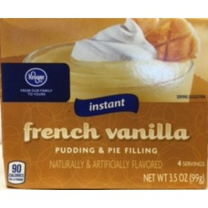 Kroger Instant Pudding & Pie Filling- French Vanilla 99g
