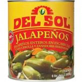 Del Sol Whole Jalapenos with Carrots & Onion 2.83kg