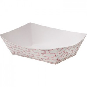 Food Trays Red Weave 250 ct   