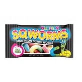 Nuclear Sqworms Sour Neon Gummi Worms 57g