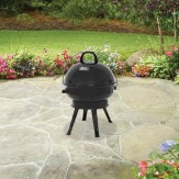 Backyard 14.5 in Round Portable Charcoal Grill, Black