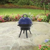Backyard 14.5 in Round Portable Charcoal Grill, Blue