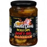 Famous Dave's Devil's Spit Pickle Chips 710 ml