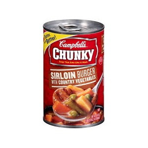 Campbells Chunky Sirlion Burger with Country Vegetable Soup 533g |