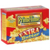 Prime Time Microwave Popcorn 3 pack- Extra Butter