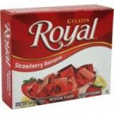 Royal Gelatin Strawberry Banana Jelly Dessert 40g