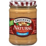 Smucker's Natural Creamy Peanut Butter 454g