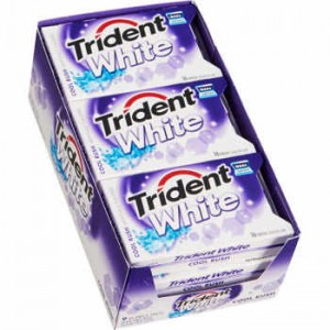 Trident White Sugar Free Gum, Cool Rush, 16 Pieces |