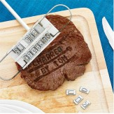 Steak BBQ Meat Branding iron with changeable letters
