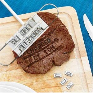 Steak BBQ Meat Branding iron with changeable letters  |