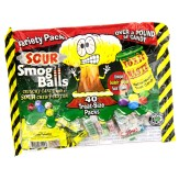 Toxic Waste Sour Candy Variety Treat Size Packs - 40 Pack Bag