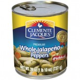Clemente Jacques Whole Jalapeno Peppers 737g