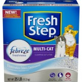 Fresh Step Multi-Cat with Febreze Freshness, Clumping Cat Litter, Scented 11.3kg