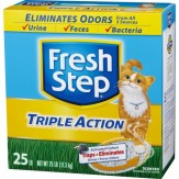 Fresh Step Triple Action, Clumping Cat Litter, Scented 11.3kg