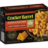 Cracker Barrel Sharp Cheddar & Bacon  Macaroni & Cheese Dinner  397g