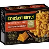 Cracker Barrel Sharp Cheddar & Bacon  Macaroni & Cheese Dinner  397g