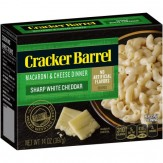 Cracker Barrel Sharp White Cheddar  Macaroni & Cheese Dinner  397g