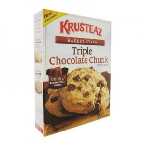 Krusteaz Triple Chocolate Chunk Cookie Mix 439g - USA Foods