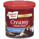 Duncan Hines Milk Chocolate Creamy Home-Style Frosting 454g Canister