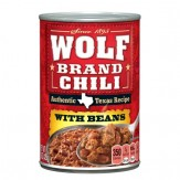 Wolf Authentic Texas Recipe W/Beans Chili 425g Can