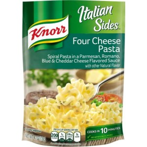 Knorr Italian Sides Four Cheese Pasta 116g  