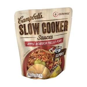 Campbell's Slow Cooker Sauce- Apple Bourbon Pulled Pork 369g  