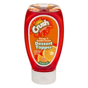 Crush Dessert Topper Orange & Vanilla Cream 340g |