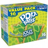 Kellogg's Pop Tarts Frosted Green Apple Jolly Rancher Toaster Pastries 16 ct
