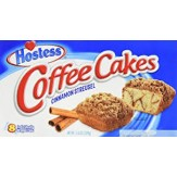 Coffee Cakes- Cinnamon Streusel Cake 8 Pack DATED