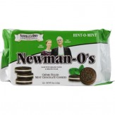 Newman's Own Organics Newman-O's Creme Filled Cookies Mint Chocolate 226g