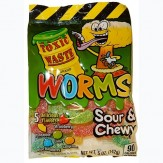 Toxic Waste Sour and Chewy Worms 142g