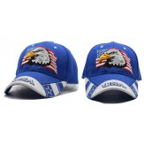 2018 Black Cap USA Flag Eagle Embroidery Baseball Cap Blue