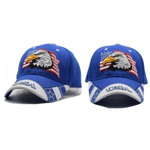 2018 Black Cap USA Flag Eagle Embroidery Baseball Cap Blue  