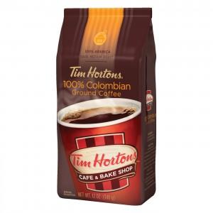 Tim Hortons Columbia Dark Medium Roast Ground Coffee 340g  