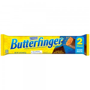 Butterfinger Candy Bar, King Size, 2 pieces 104.8 g |